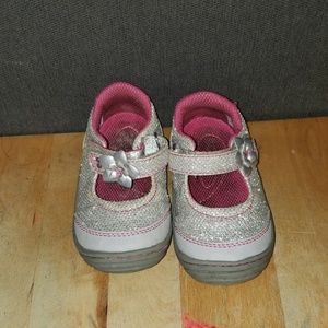 EUC Silver Sparkle Stride-rite Shoes